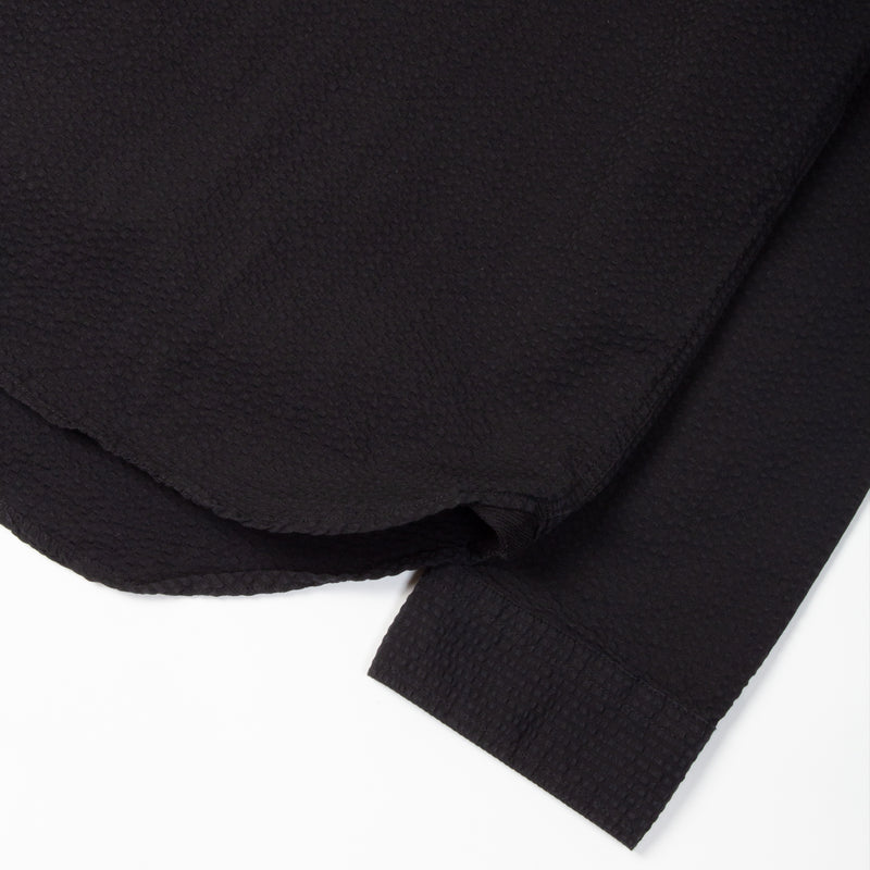 Kestin Hare Granton Shirt Black Seersucker Cotton sleeve detail