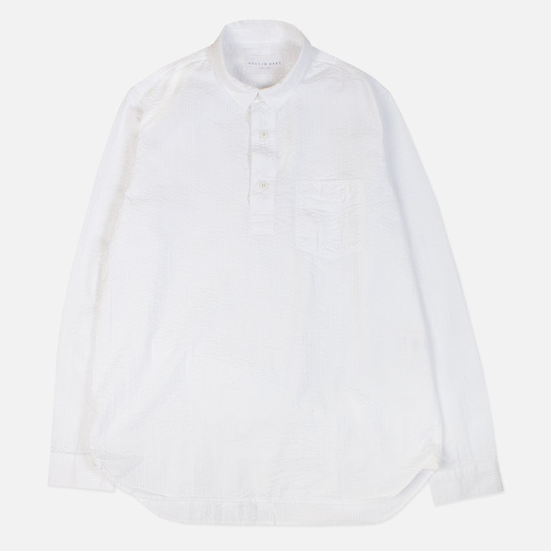 Kestin Hare Granton Shirt White Seersucker Cotton