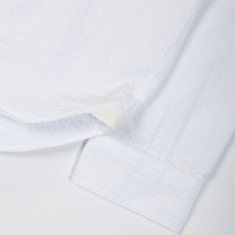 Kestin Hare Granton Shirt White Seersucker Cotton sleeve detail