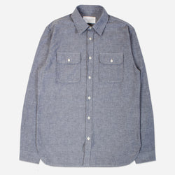 Kestin Hare Harrogate Shirt In Chambray Cotton