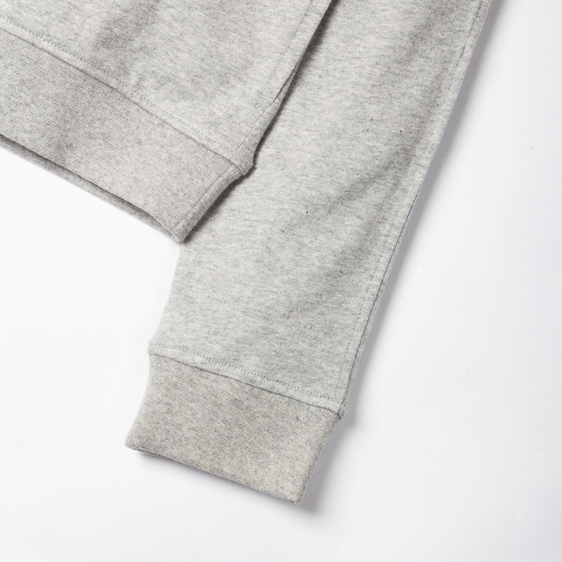 Kestin Hare Haymarket Sweat In Heather Grey Cotton Jersey sleeve detail