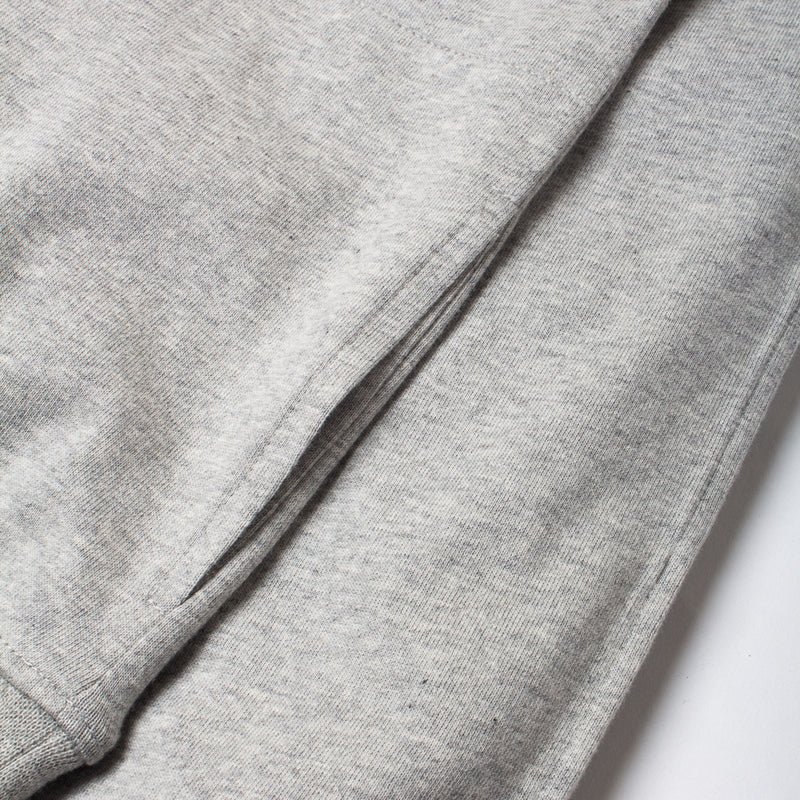 Kestin Hare Haymarket Sweat In Heather Grey Cotton Jersey side pocket detail