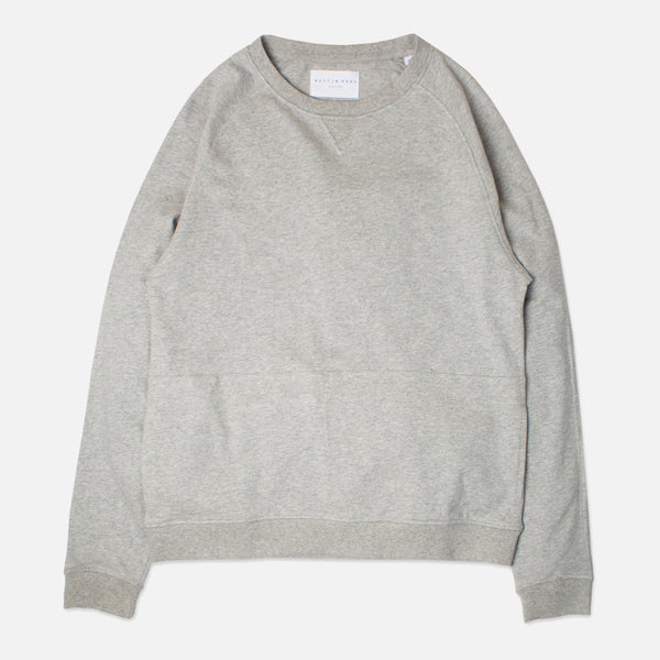Kestin Hare Haymarket Sweat In Heather Grey Cotton Jersey