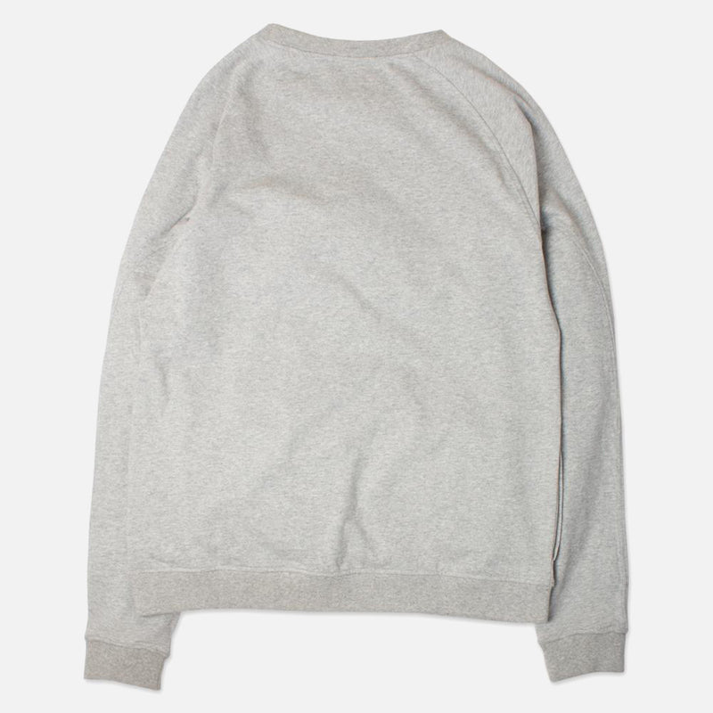 Kestin Hare Haymarket Sweat In Heather Grey Cotton Jersey back view