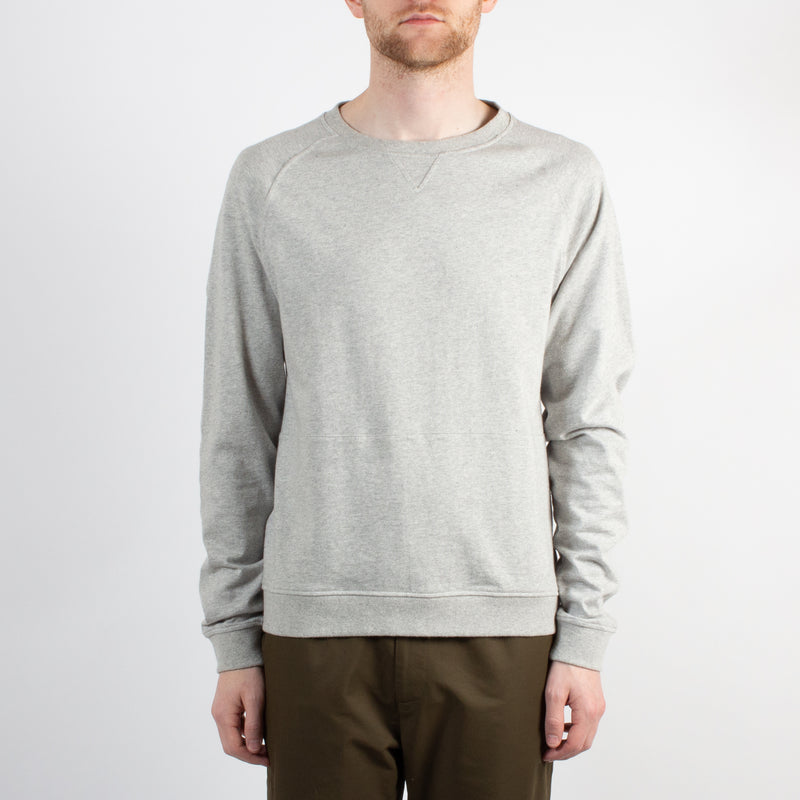 Kestin Hare Haymarket Sweat In Heather Grey Cotton Jersey worn