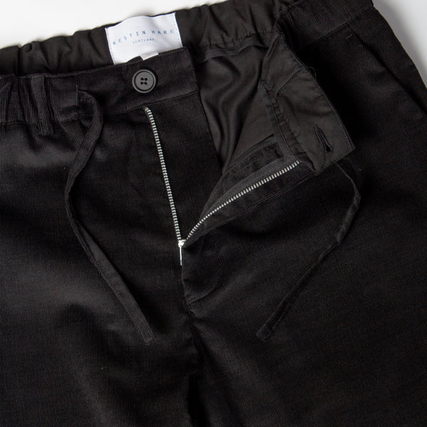 Inverness Trouser In Black Corduroy