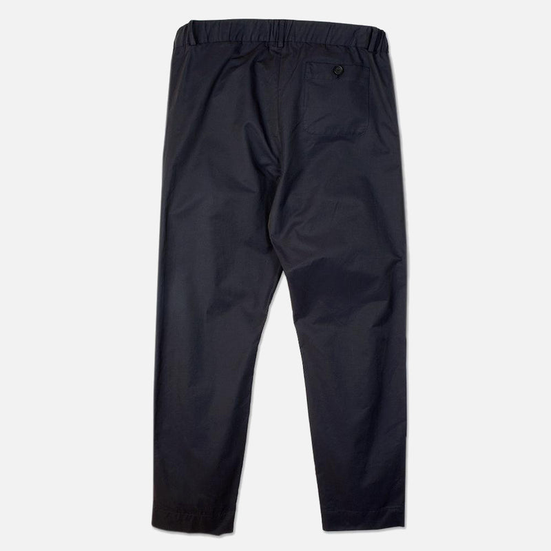 Inverness Trouser In Navy Water Repellent Cotton back view