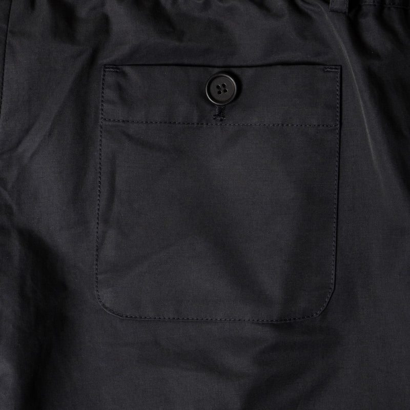 Inverness Trouser In Navy Water Repellent Cotton back pocket detail