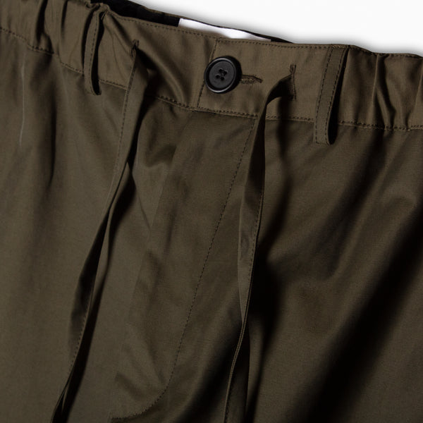 Inverness Trouser In Olive Water Repellent Cotton