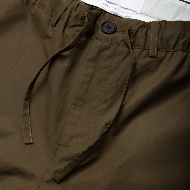 Kestin Hare Inverness Trouser Olive Water Repellent Cotton waist detail