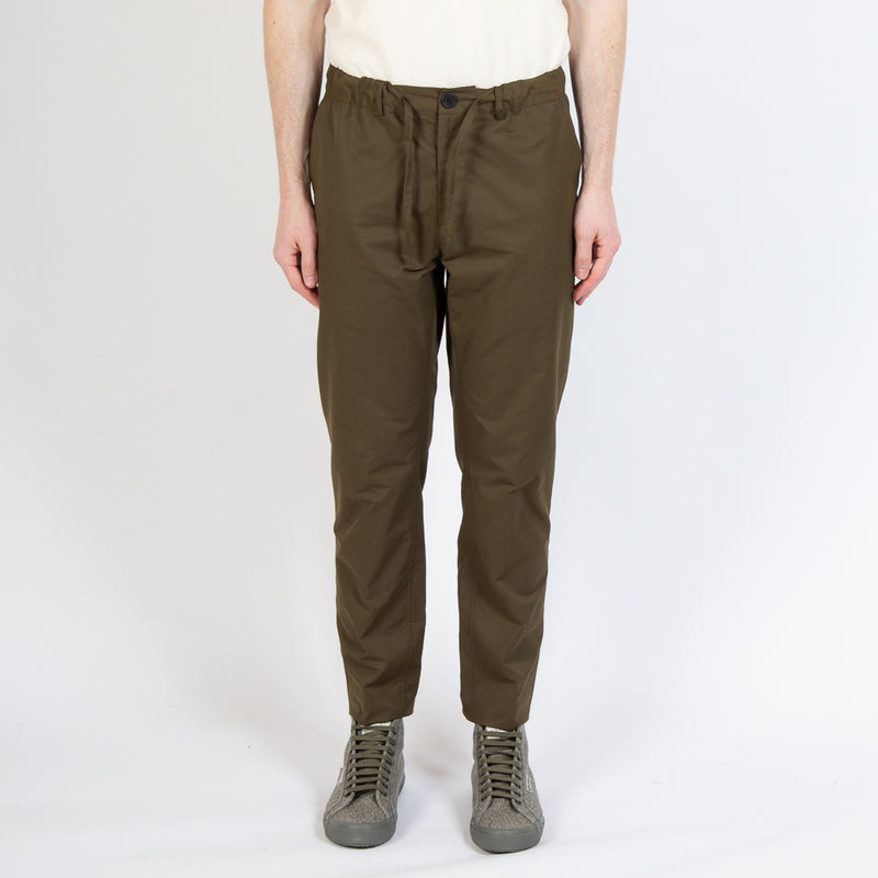 Kestin Hare Inverness Trouser Olive Water Repellent Cotton worn