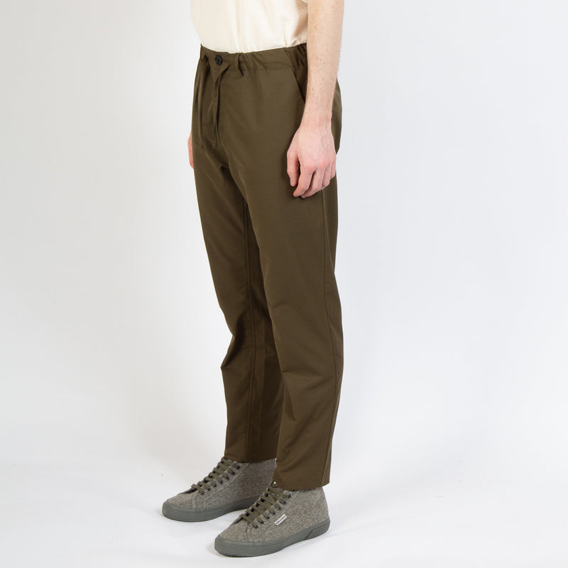 Kestin Hare Inverness Trouser Olive Water Repellent Cotton worn side view