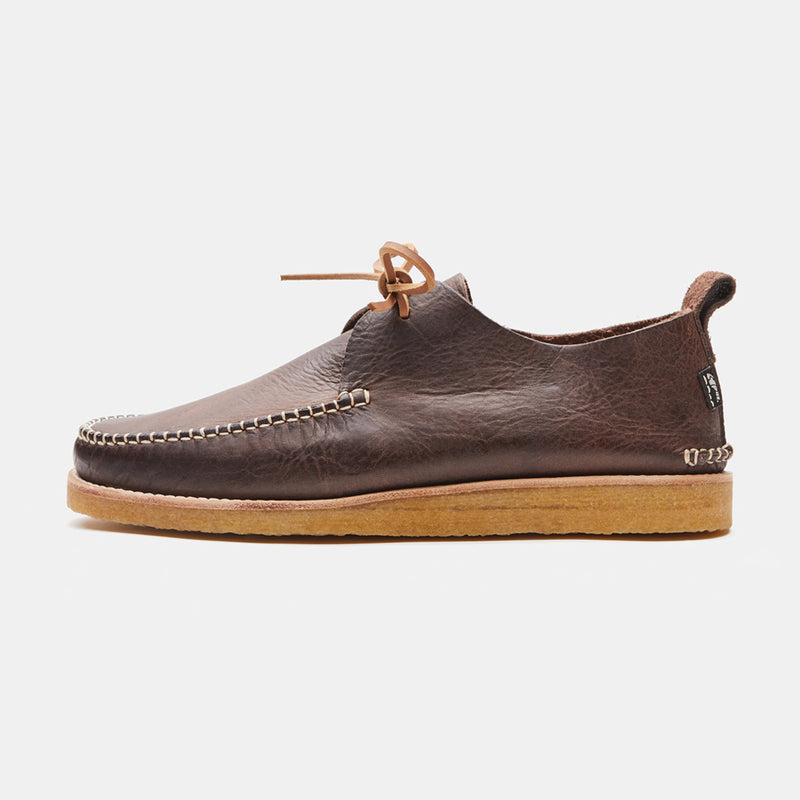 Yogi Lawson Leather Moccasin Chocolate side view