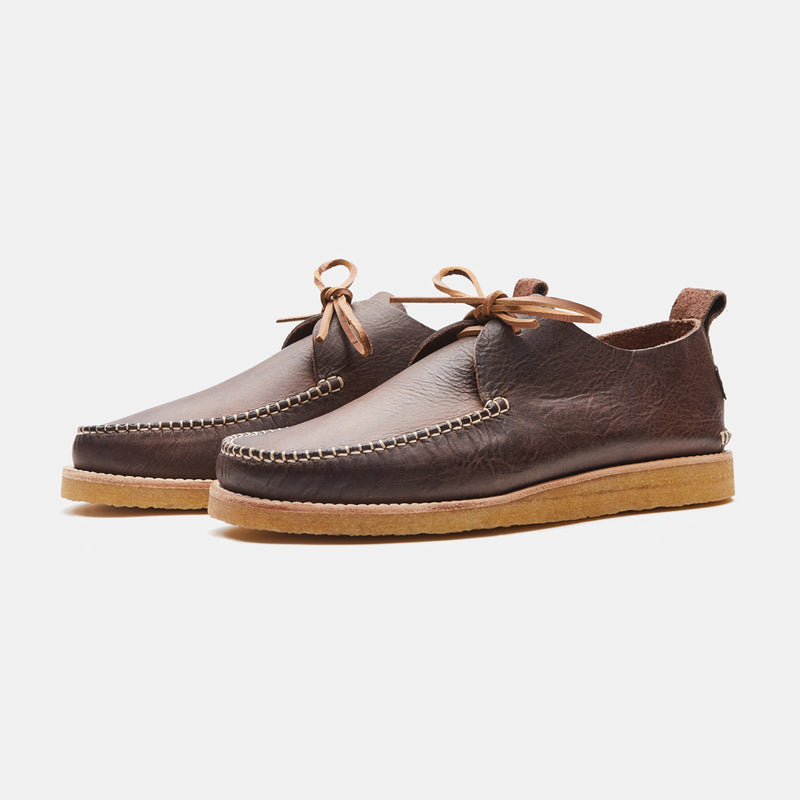 Yogi Lawson Leather Moccasin Chocolate