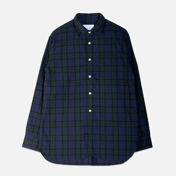 Liverpool Shirt In Blackwatch Brushed Check