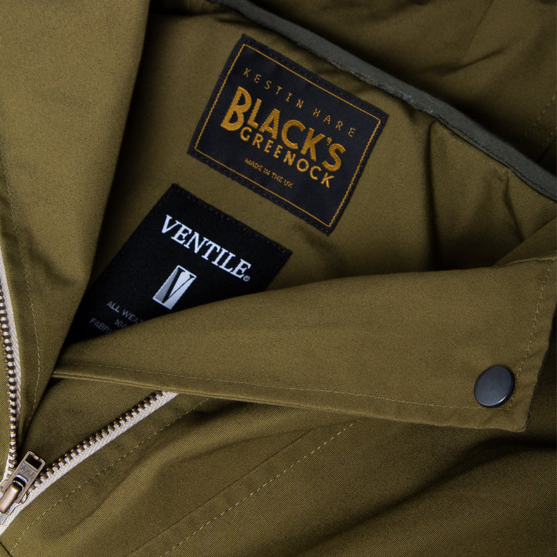Nevis Smock In Military Green Water Repellent Ventile