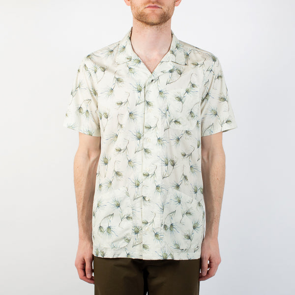 Kestin Hare Seacliff Shirt Printed Cotton Poplin worn