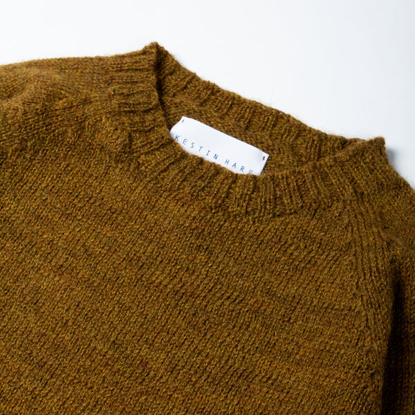 British Wool Crew Neck In Harvest