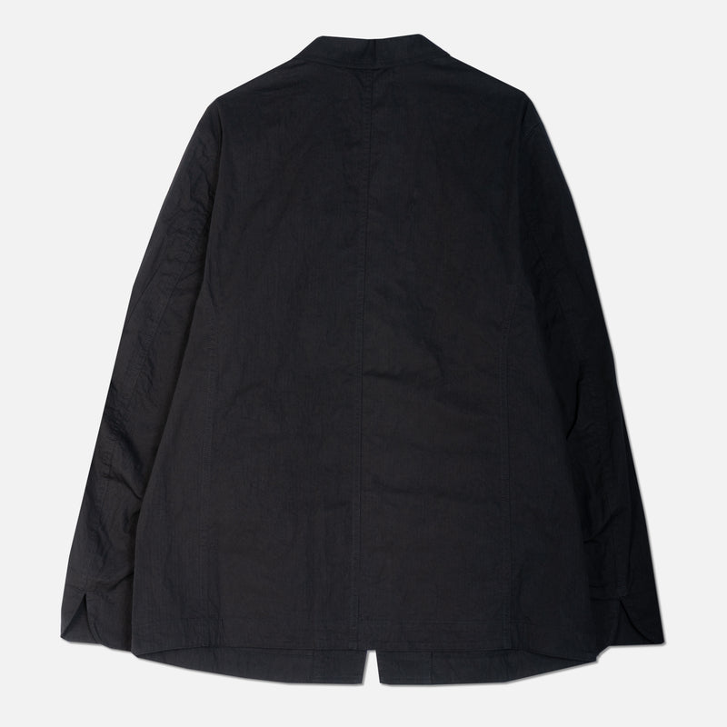Stac Blazer In Black Mini Herringbone