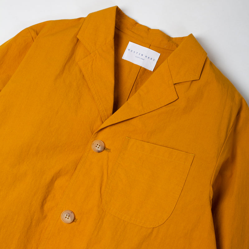 Kestin Hare Stac Blazer Ochre Water Repellent Cotton/Nylon collar detail