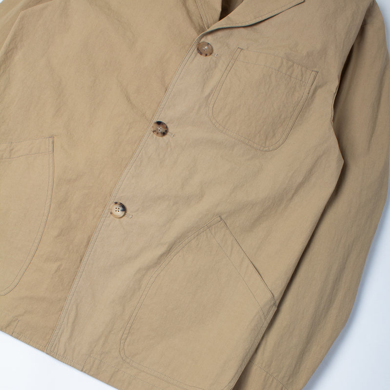 Kestin Hare Stac Blazer In Clay Water Repellent Cotton/Nylon sleeve detail