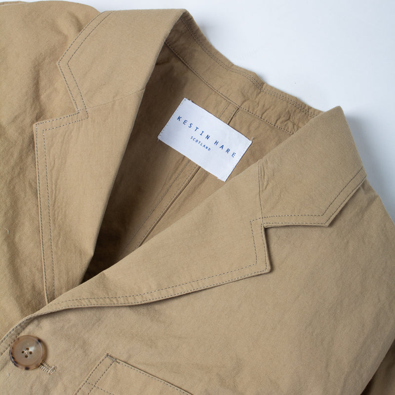 Kestin Hare Stac Blazer In Clay Water Repellent Cotton/Nylon collar detail