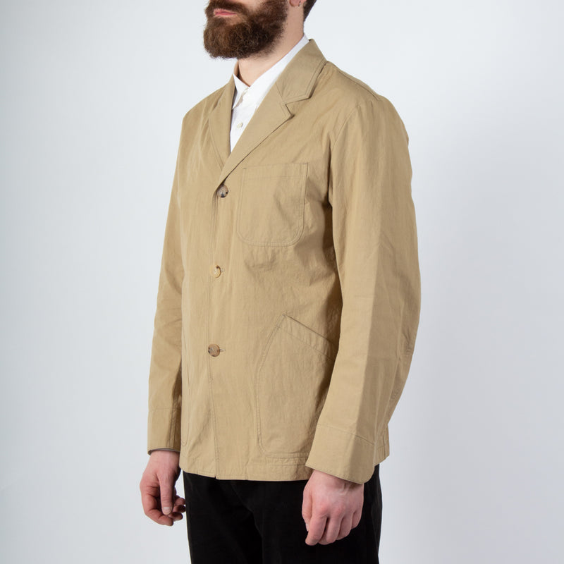 Kestin Hare Stac Blazer In Clay Water Repellent Cotton/Nylon worn side view