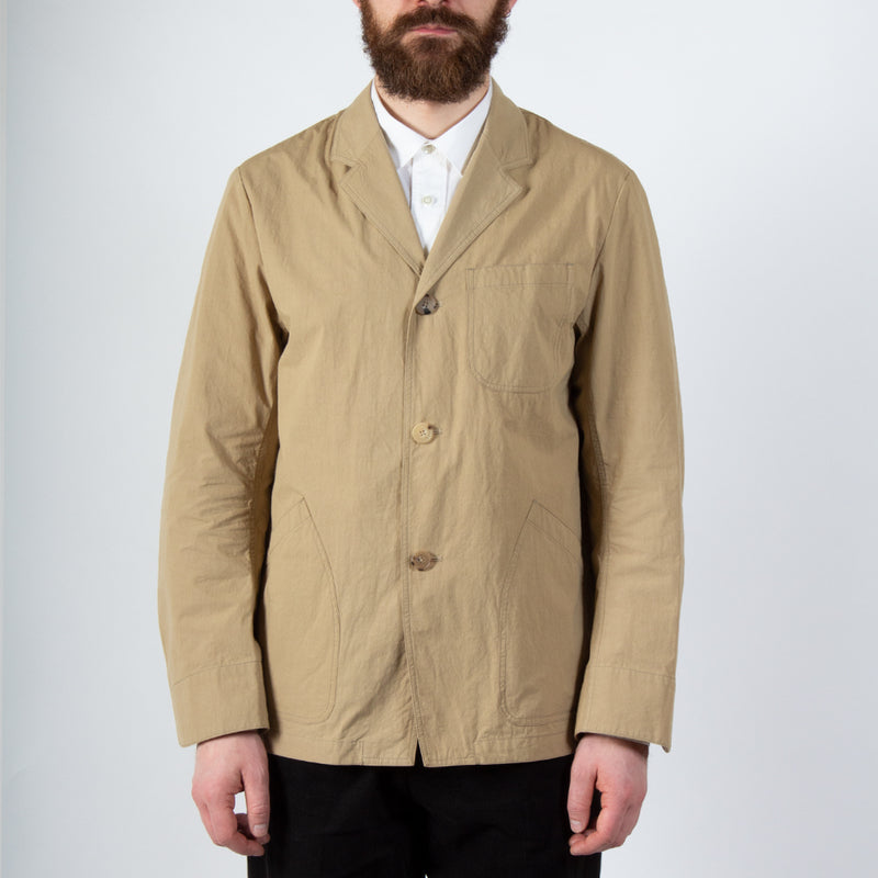 Kestin Hare Stac Blazer In Clay Water Repellent Cotton/Nylon worn