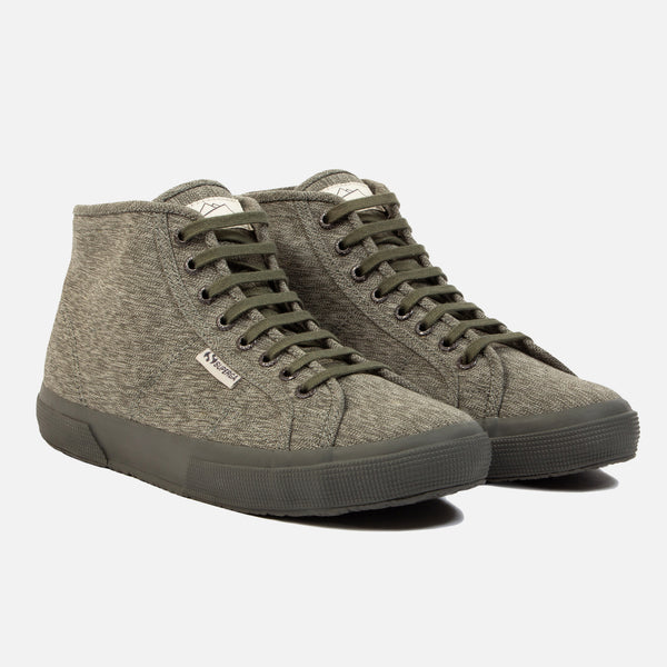 Superga x Kestin Hare 2754 Olive/White side view