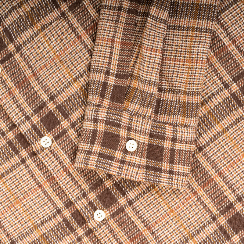 Tain Shirt In Bark Cotton Check