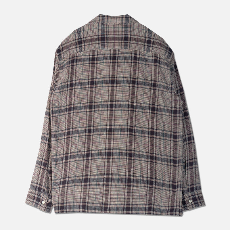 Tain Shirt In Lavender Cotton Check