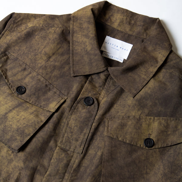 Kestin Hare Traveller Jacket Ripstop collar detail