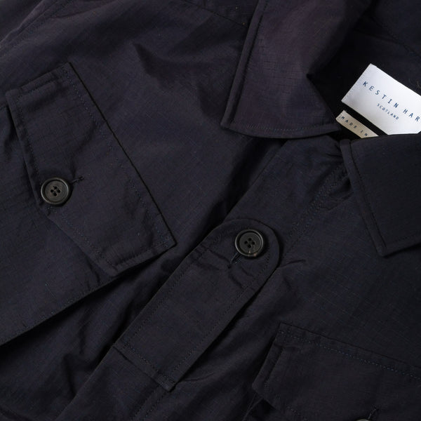 Kestin Hare Traveller Jacket Navy Ripstop Nylon chest detail