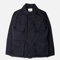 Traveller Jacket In Navy Ripstop Nylon
