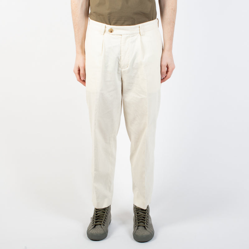 Wick Trouser  In Off White Cord