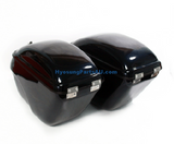 NEW HARD TRUNK SADDLEBAGS FOR HYOSUNG BLACK GV650 GV650