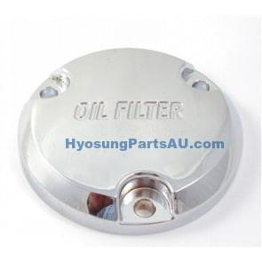 HYOSUNG OIL FILTER COVER CHROME GV250 GV250