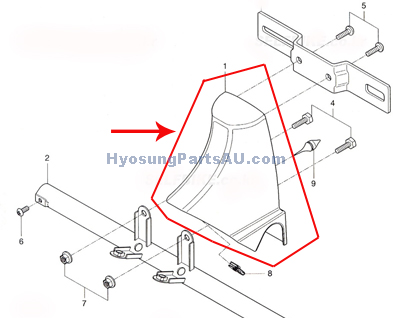 HYOSUNG TAIL REAR COVER GV250 GV250
