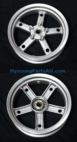 GENUINE REAR WHEEL RIM SILVER HYOSUNG MS3 250 MS3