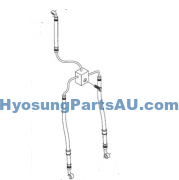 HYOSUNG BRAKE LINE FRONT TWIN DISC GT250 GT250