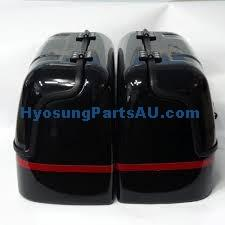 HYOSUNG NEW HARD TRUNK SADDLEBAGS BLACK GV250 GV250