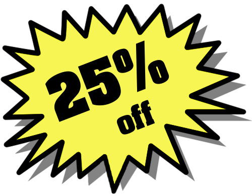 25% off All Items