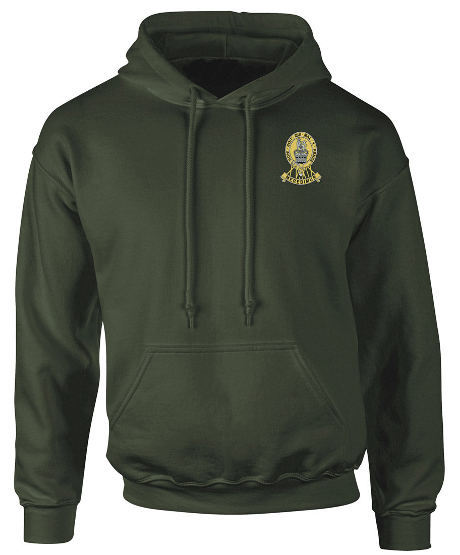 Official British Army Full Zip Fleece By Military Online 15th 19th Kings Hussars Embroidered Logo