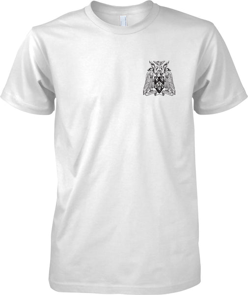 Cranwell College Coat of Arms - RAF Royal Air Force Official T-Shirt Mono
