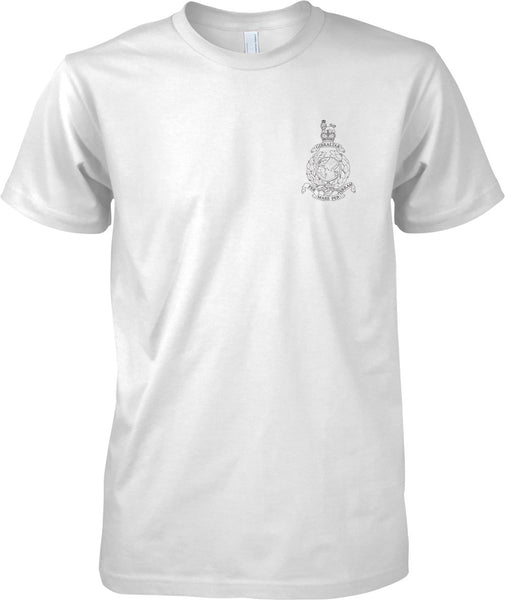 Globe And Laurel Line - Royal Marines Official T-Shirt Mono