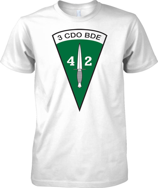 Licensed MOD -  Royal Marines 40 Commando - 3 Cdo Brigade Insignia - Mens T Shirt
