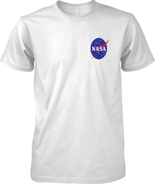NASA Logo - National Aeronautics and Space Administration - Mens Chest Design T-Shirt
