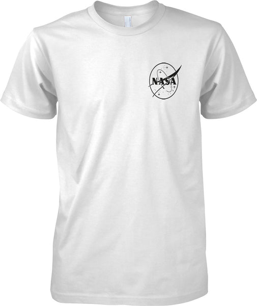 NASA B&W Logo - Mens Chest Design T-Shirt
