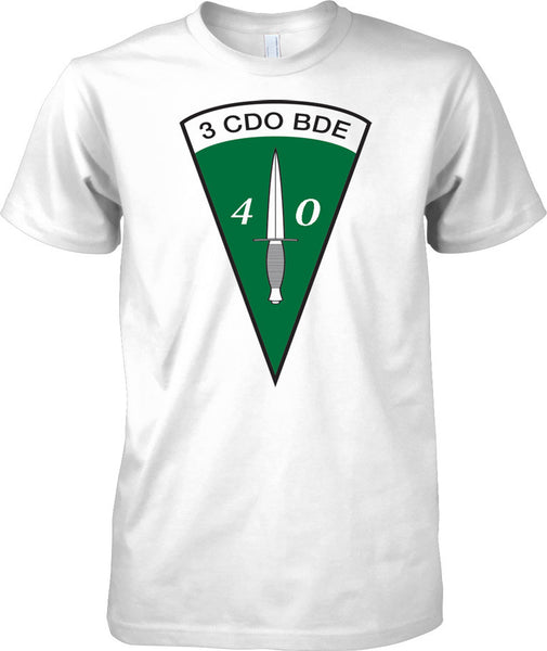 Licensed MOD -  Royal marines Commando Dagger 40 Cdo 3 Cdo Bde - Mens T Shirt