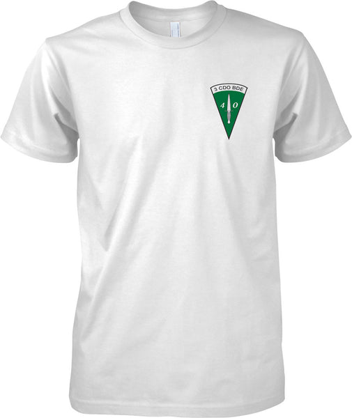 Licensed MOD -  Royal marines Commando Dagger 40 Cdo 3 Cdo Bde - Mens Chest Design T-Shirt